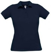 Polos bleu marine et blanc coupe cintrée pour femme