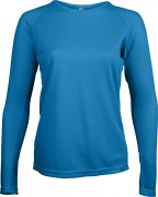 Tee – shirt Manches Longues Respirant 100 % Polyester pour Femme.